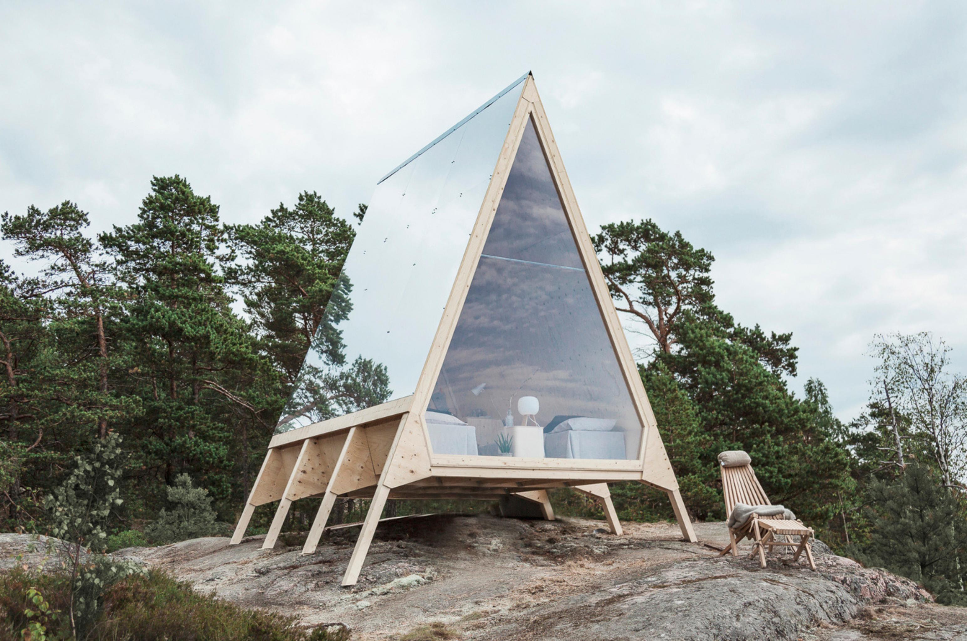 Cabana Nolla feita a partir de soluções retornáveis sem emissão de poluentes