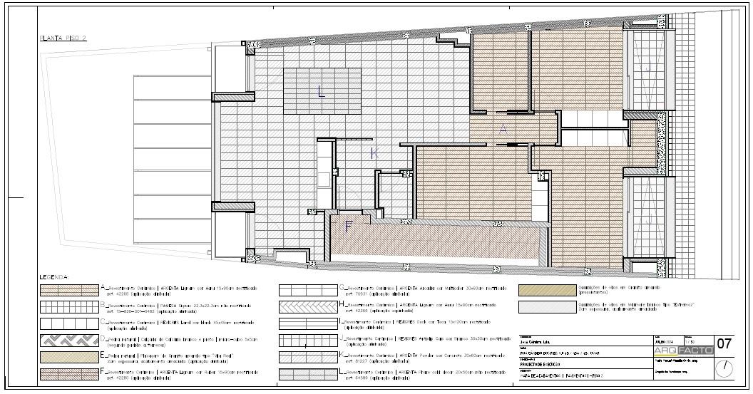 Mapa de Acabamentos do Apartamento - 2º Andar